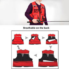 Load image into Gallery viewer, Outdoor Sport Fishing Vest.  Breathable And Comfortable.