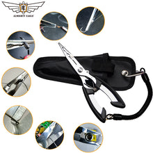 Load image into Gallery viewer, ALMIGHTY EAGLE Fishing Pliers. Fish Line Cutter, Scissors, Mini fish hook remover.