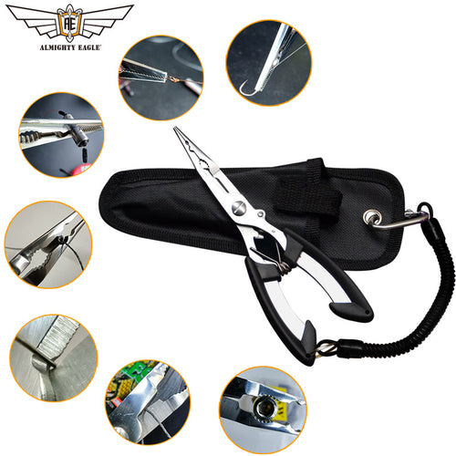 ALMIGHTY EAGLE Fishing Pliers. Fish Line Cutter, Scissors, Mini fish hook remover.