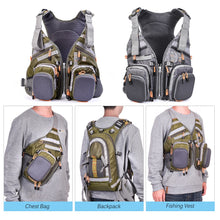 Load image into Gallery viewer, Fly Fishing Vest For Breathable Comfort With Adjustable Straps And Multiple Pockets