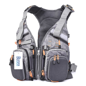 Fly Fishing Vest For Breathable Comfort With Adjustable Straps And Multiple Pockets