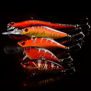 Hot Fishing Lures Set Mixed 5pcs Red