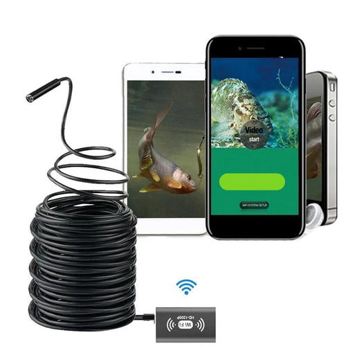 Portable Wifi Fishing Finder HD Night Vision Camera 10m Cable Underwater