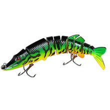 Load image into Gallery viewer, Multi Jointed Swimbait Pike Lure Hard Baits Fishing Tackle for Bass or Trout