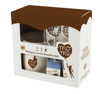 MoMe Gift box + gift wrapping / (4sticks + MoMe mug)