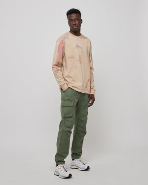 L/S University T-Shirt in Carnival Tan