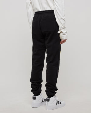 Fire Smile Sweatpants in Black