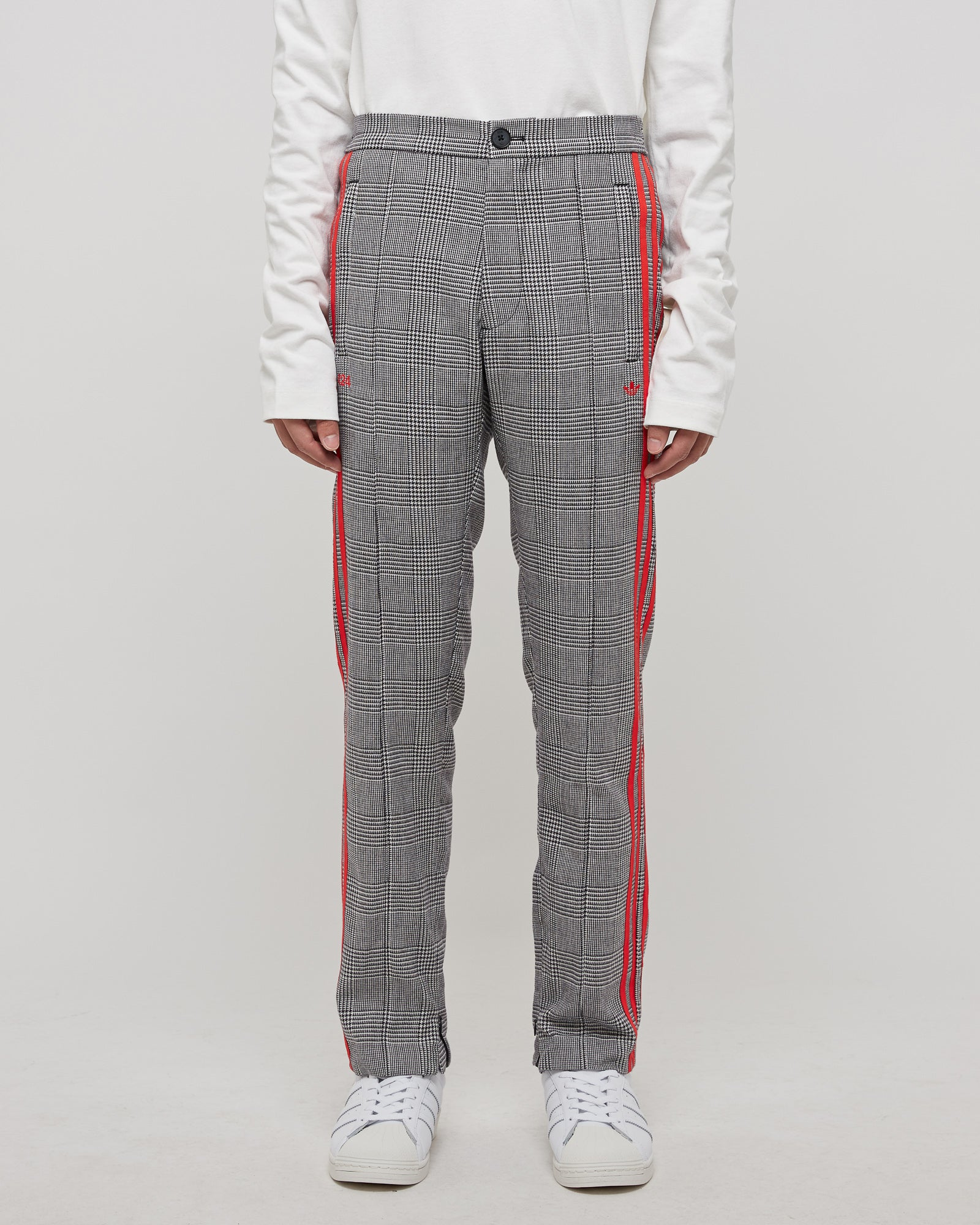 424 Wool Trousers in Gray/Red Stripe