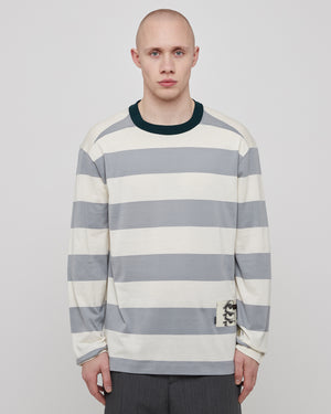 Jay L/S T-shirt in Mineral Gray