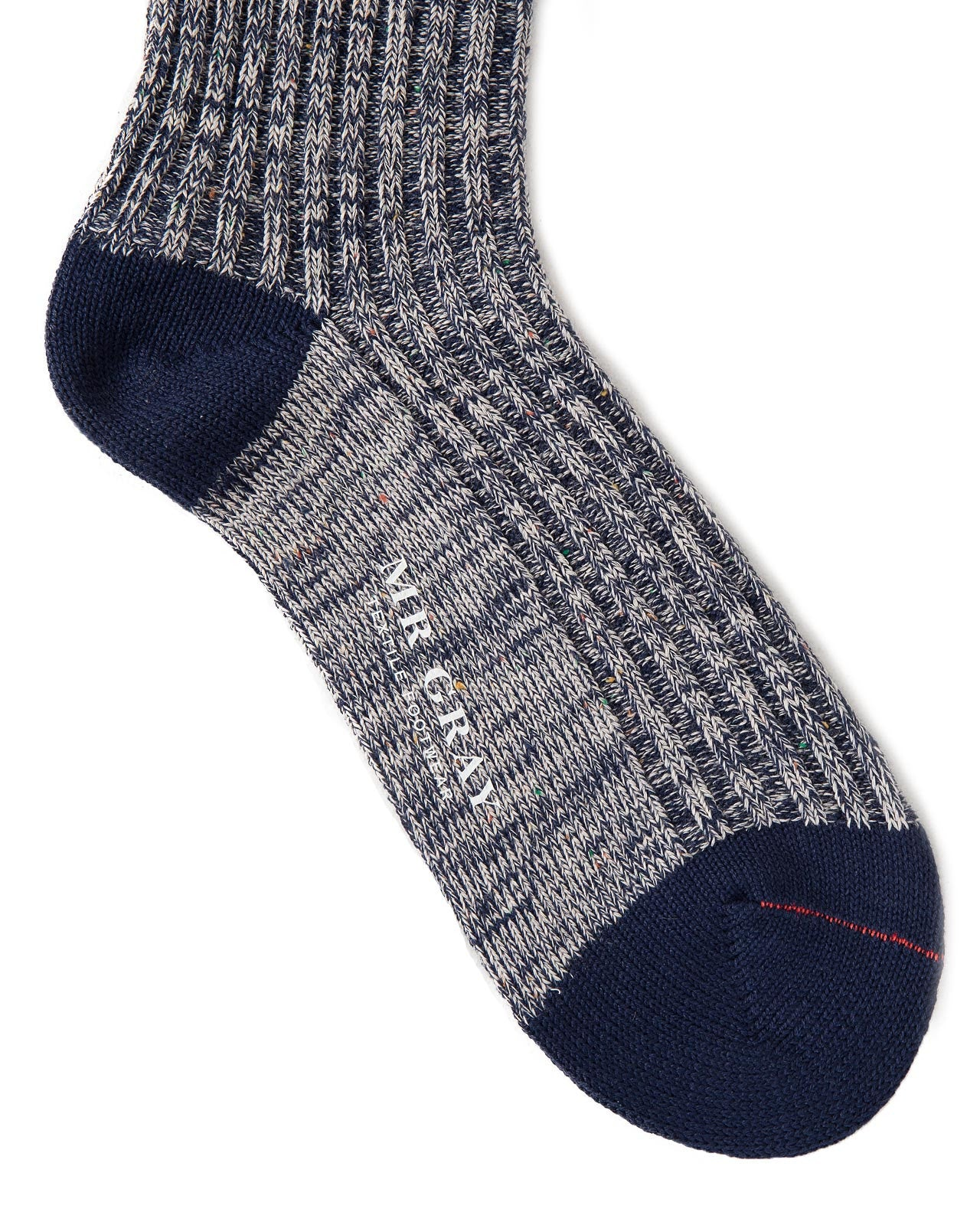 Heavy Nep Rib Sock in Navy | Mr. Gray