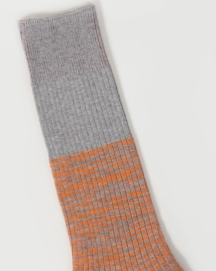 Reverse Hi-Vis Melange Sock | Mr. Gray