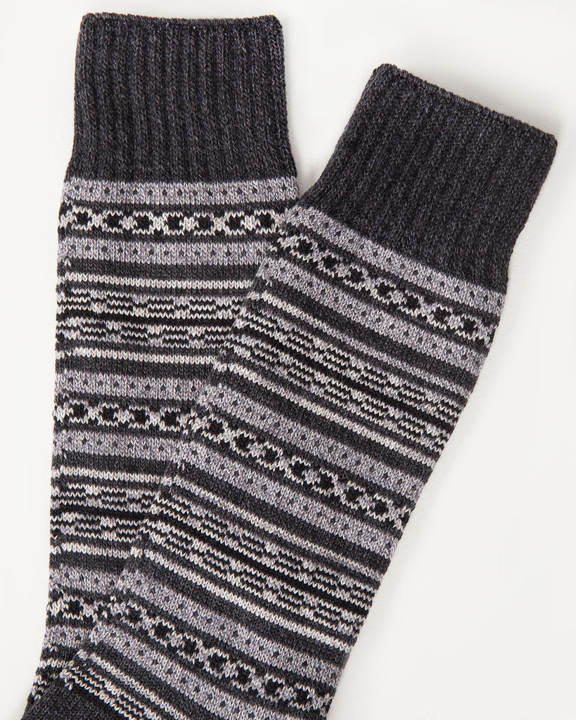 Blanket Border Sock | Mr. Gray