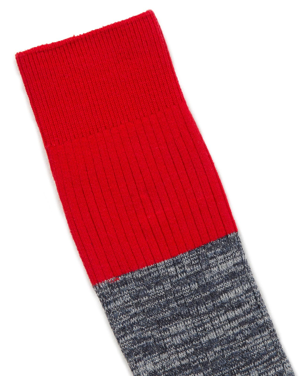Hi Vis Colour Block Sock in Red | Mr. Gray