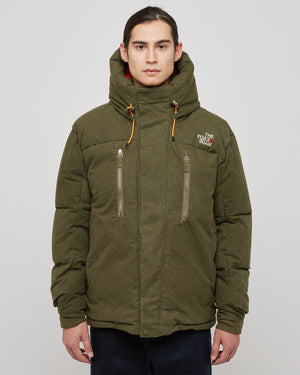 Down Parka in Green