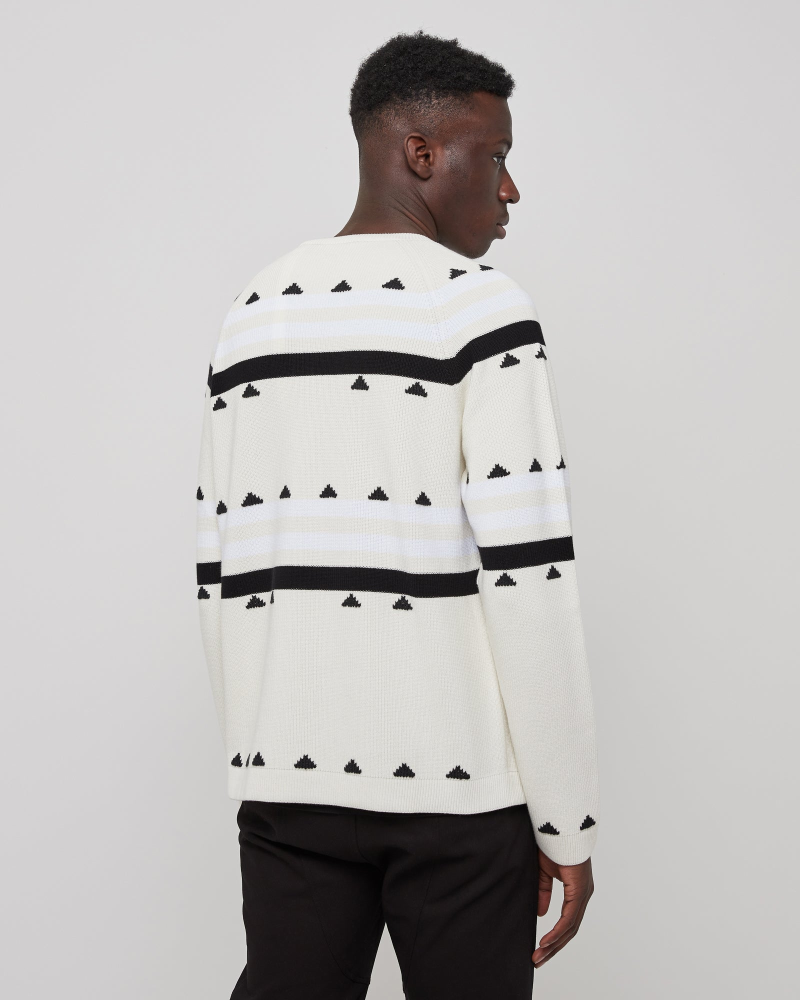 Girocollo Tricot Jumper in White