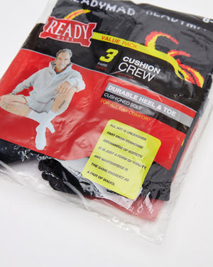 3 Pack Fire Crew Socks in Black