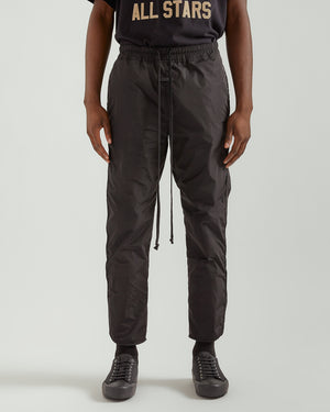 Nylon Track Pant in Black