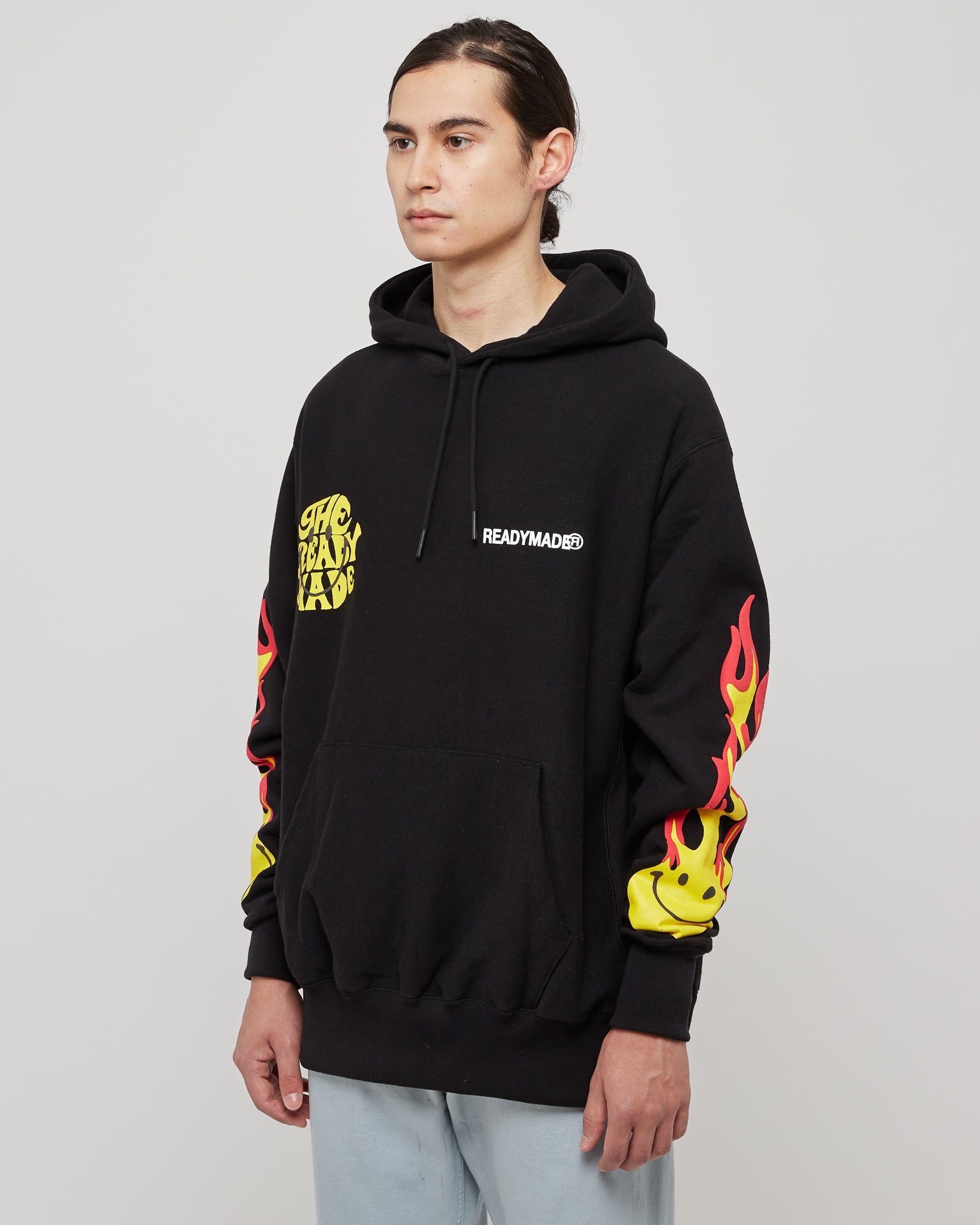 Smile Visual Hoodie in Black