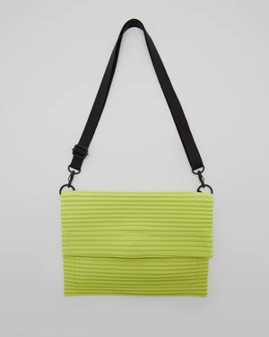 Pleated Shoulder Bag in Light Green