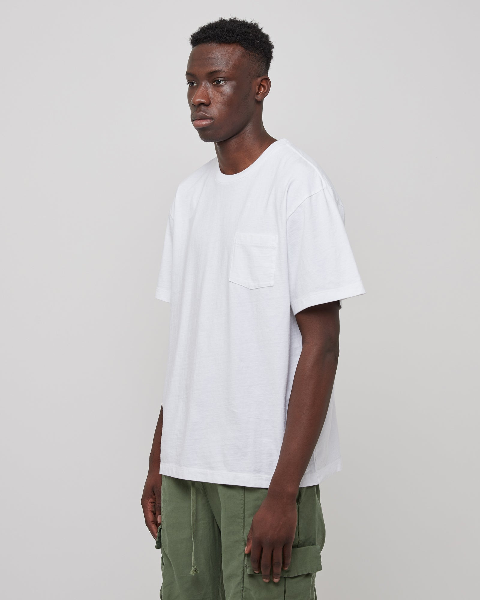 Lucky Pocket T-Shirt in White