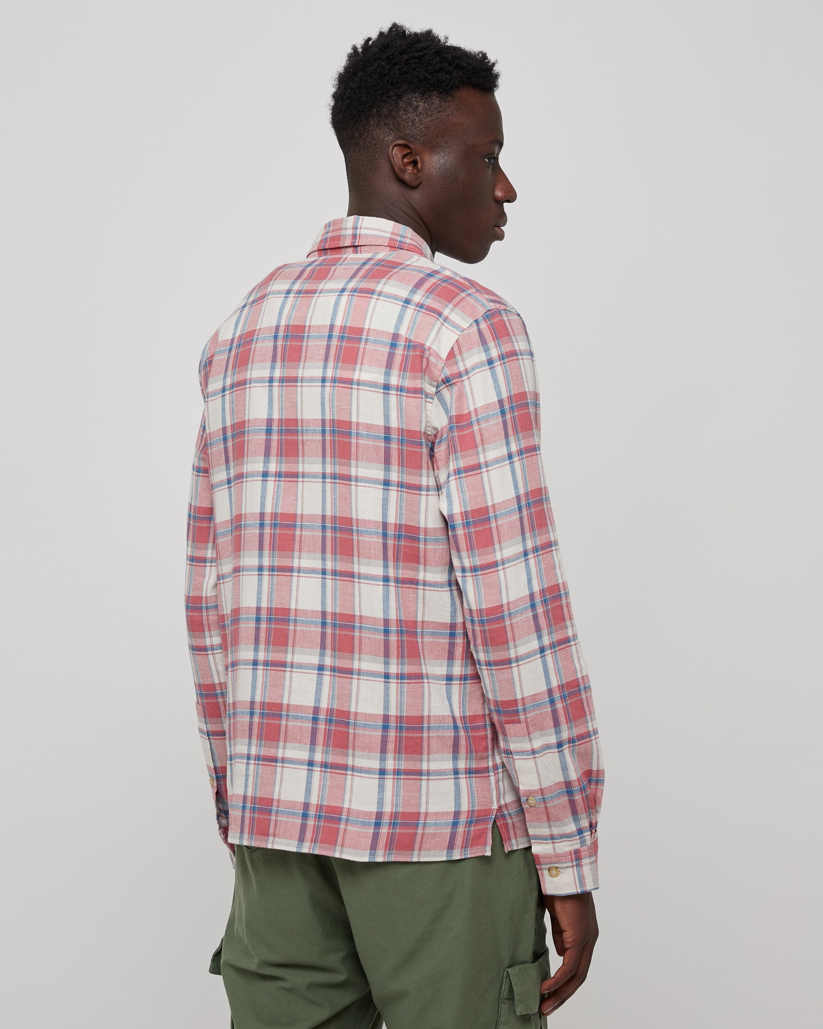 Sly Cotton Straight Hem Shirt in Annes Check