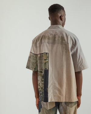 S/S Box Shirt in Gray Mix
