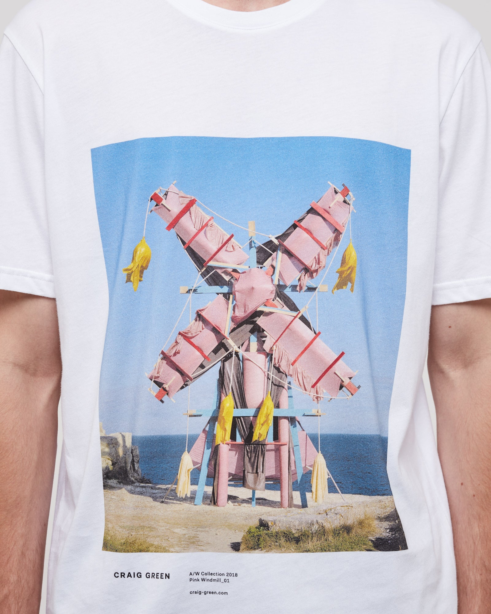 Print Campaign T-Shirt in Pink Constructed