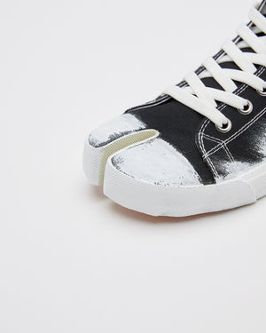 Painted Tabi Sneakers in Black