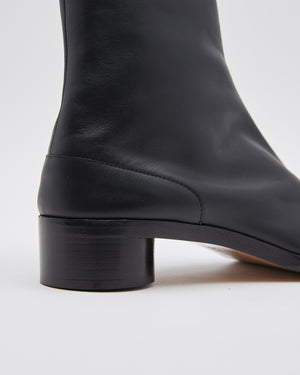 Low Heel Tabi Boots in Black