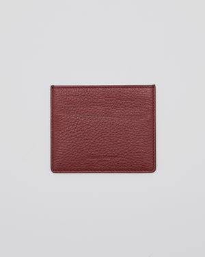 Pebbled Card Holder in Brown