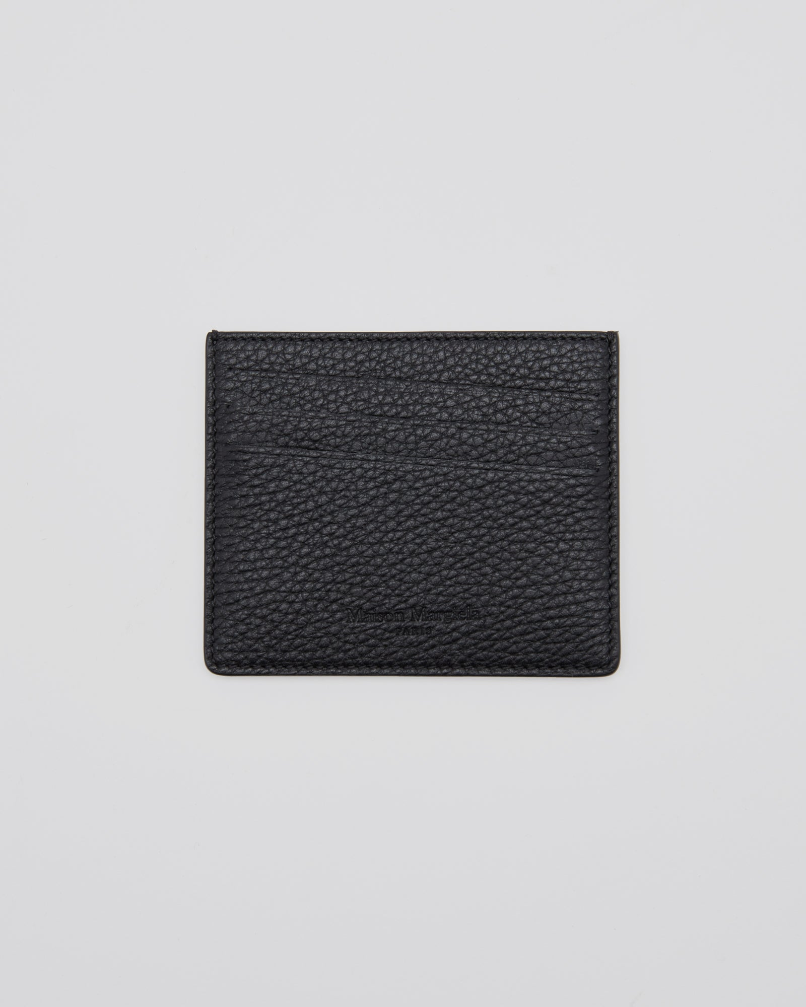 Pebbled Card Holder in Black
