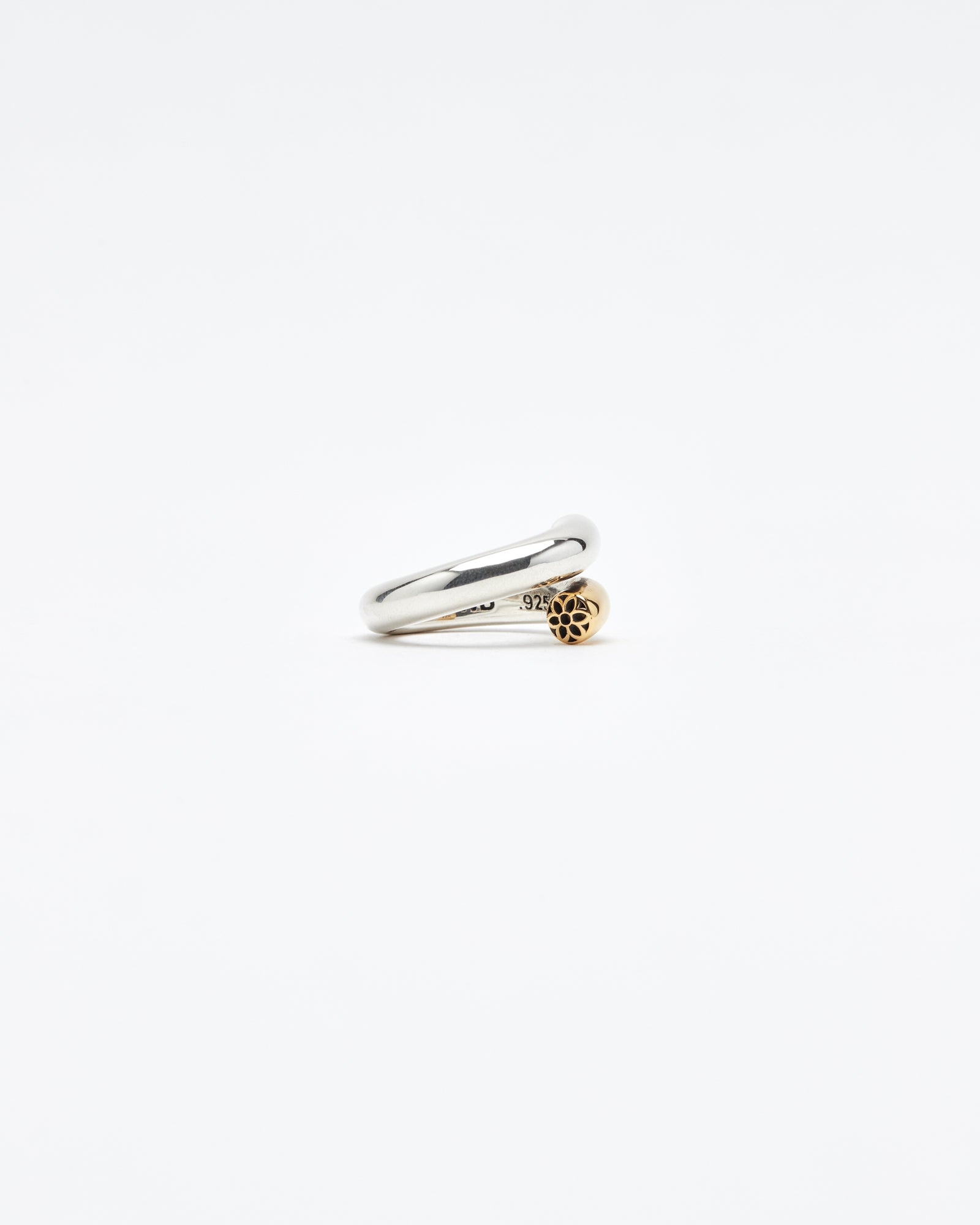 Nixson Ring, Just the Tip, Sterling & 22K, Size 9