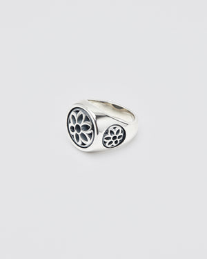 Club Ring, Medium, Sterling