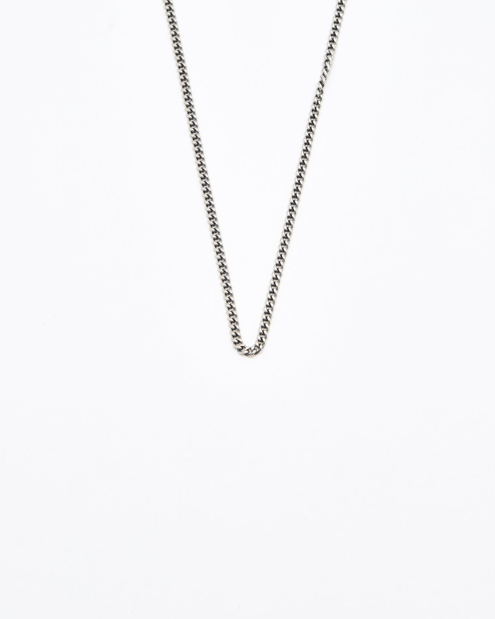 Curb Chain Necklace, #1, Sterling, 28""