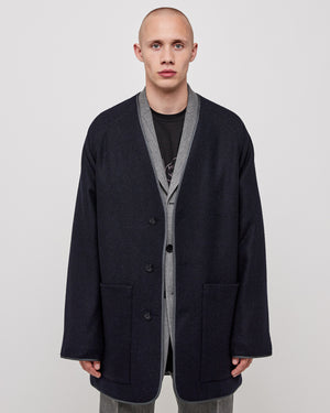 Andre Liner Coat in Navy