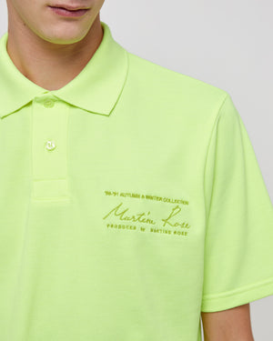 Jacquard SS Polo Top in Fluoro