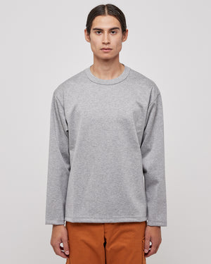 LS Sweatshirt with Side Seam Embroidery in Gray