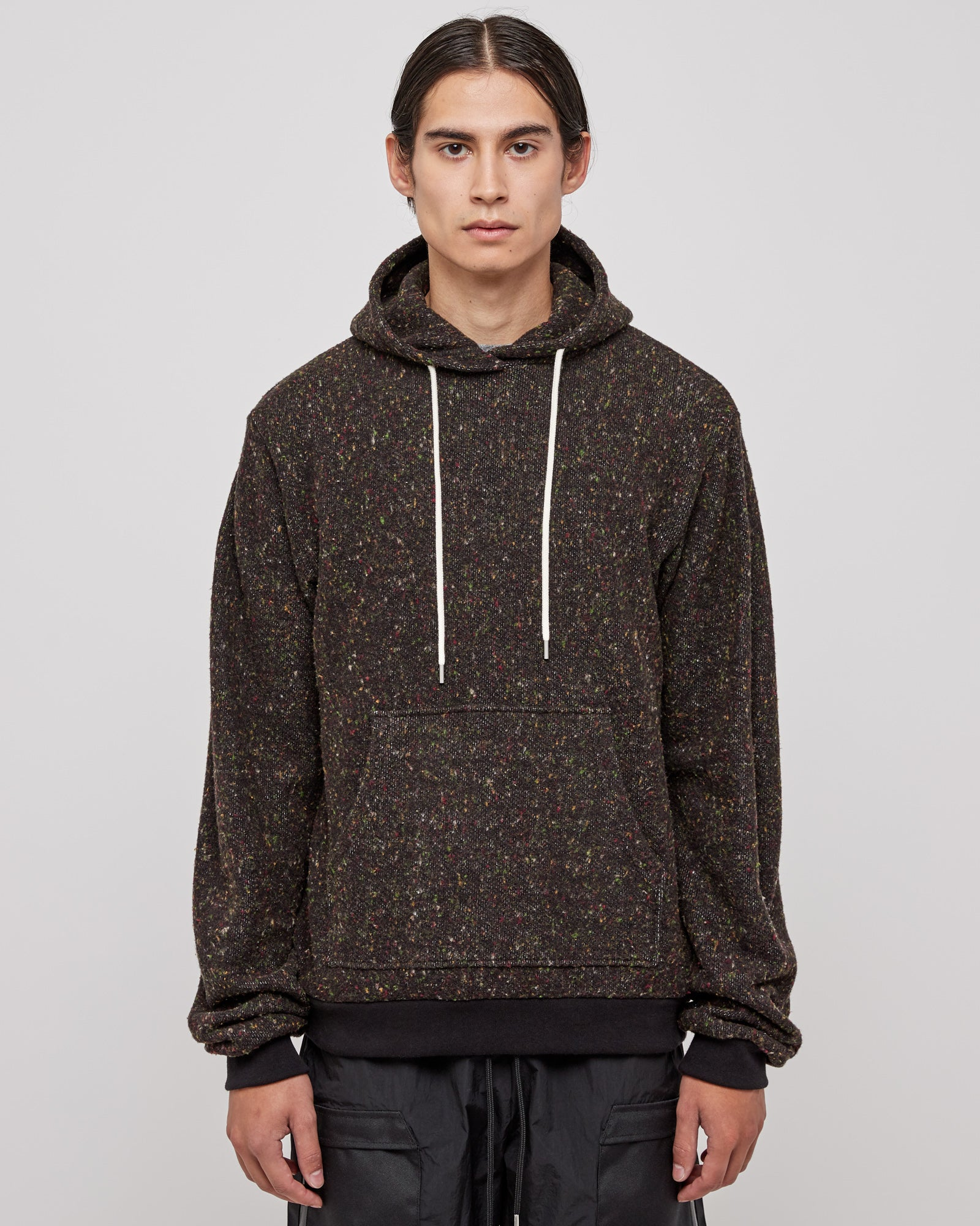 Fireside Beach Hoodie in Black Multi