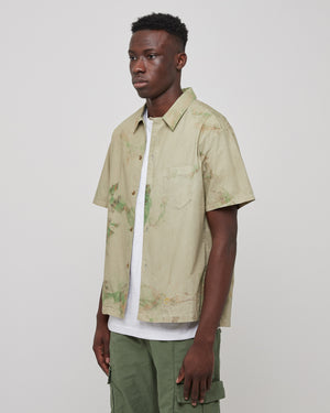 Bowling Shirt in Carnival Sage