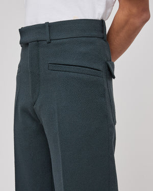 Thorwald ZigZag Trousers in Granite Blue