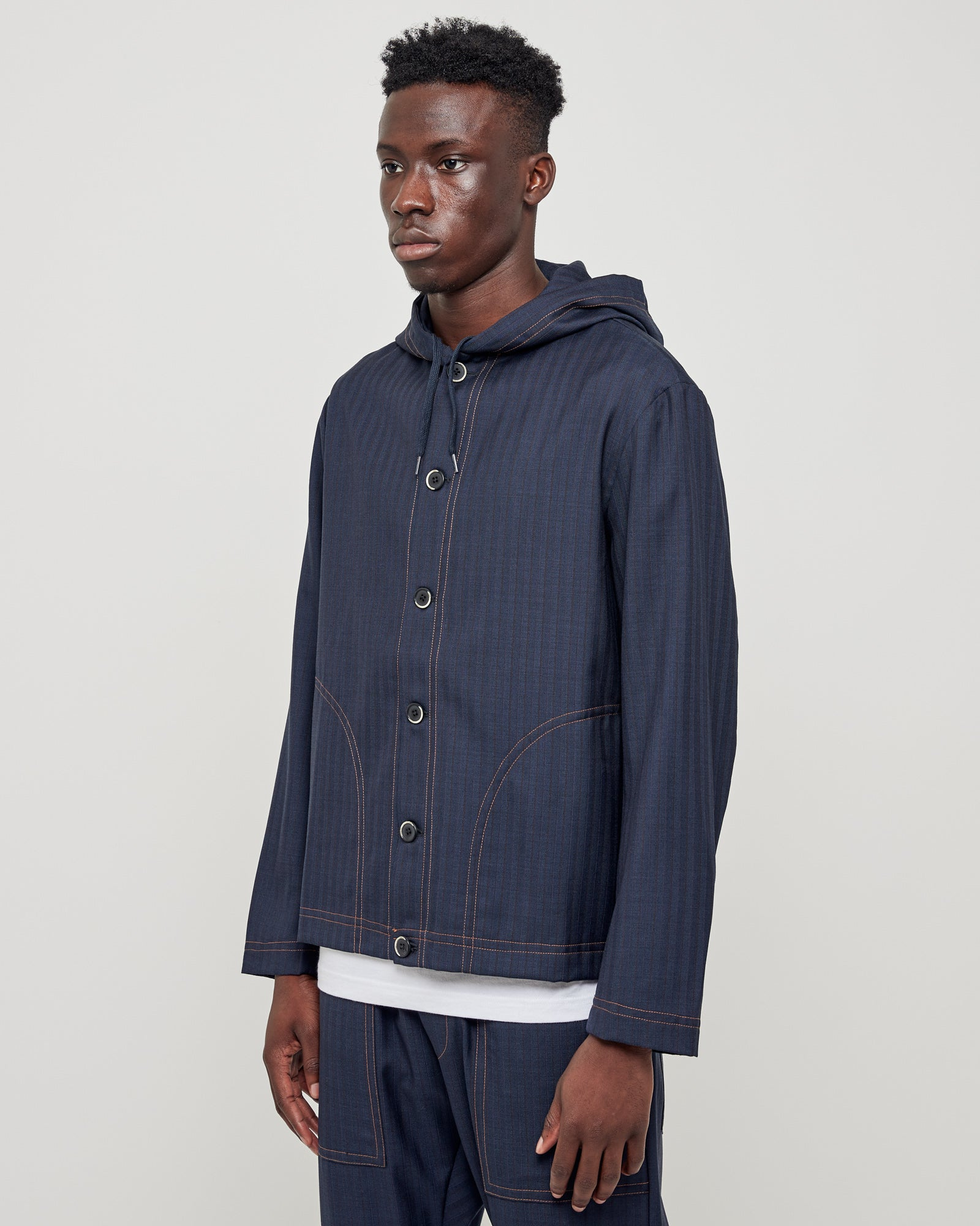 Archivio 1993 RG Coat Caroman in Navy
