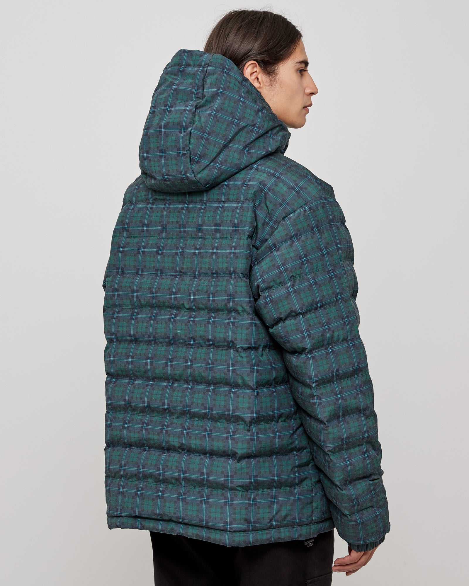Plaid Tech Pullover in Green Plaid