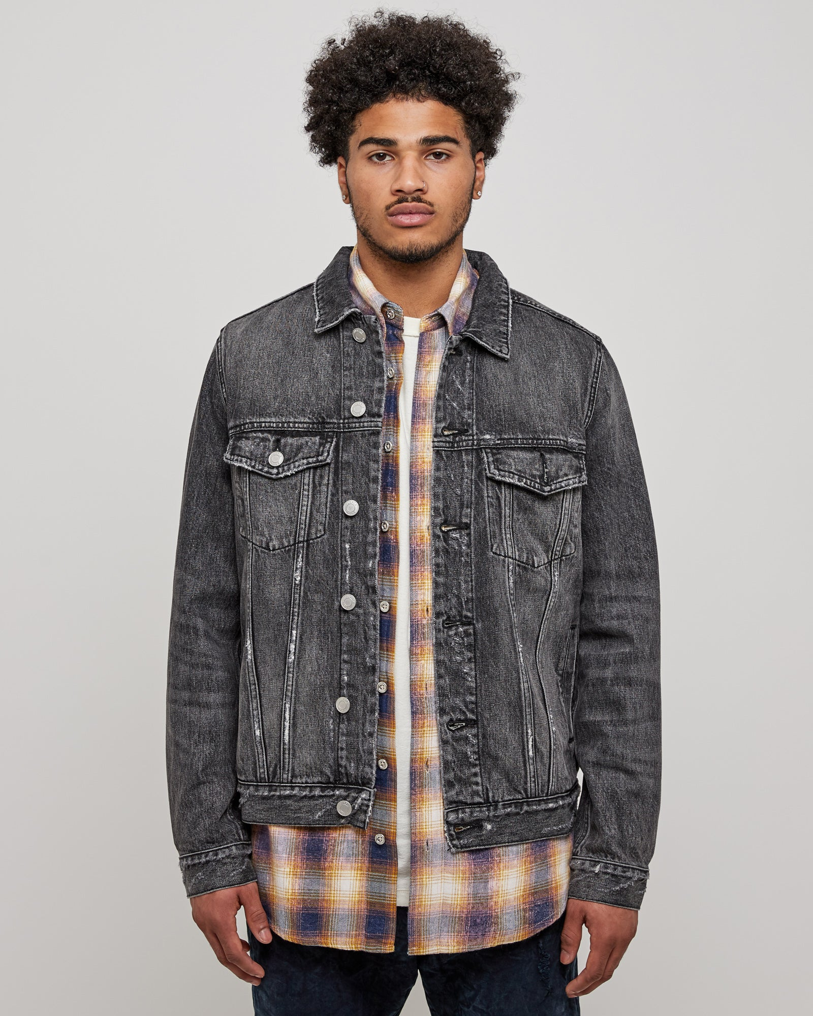 006 Classic Fit Jacket in Black Wash