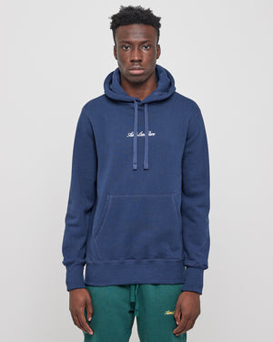 20oz Terry Logo Hoodie in Flag Navy