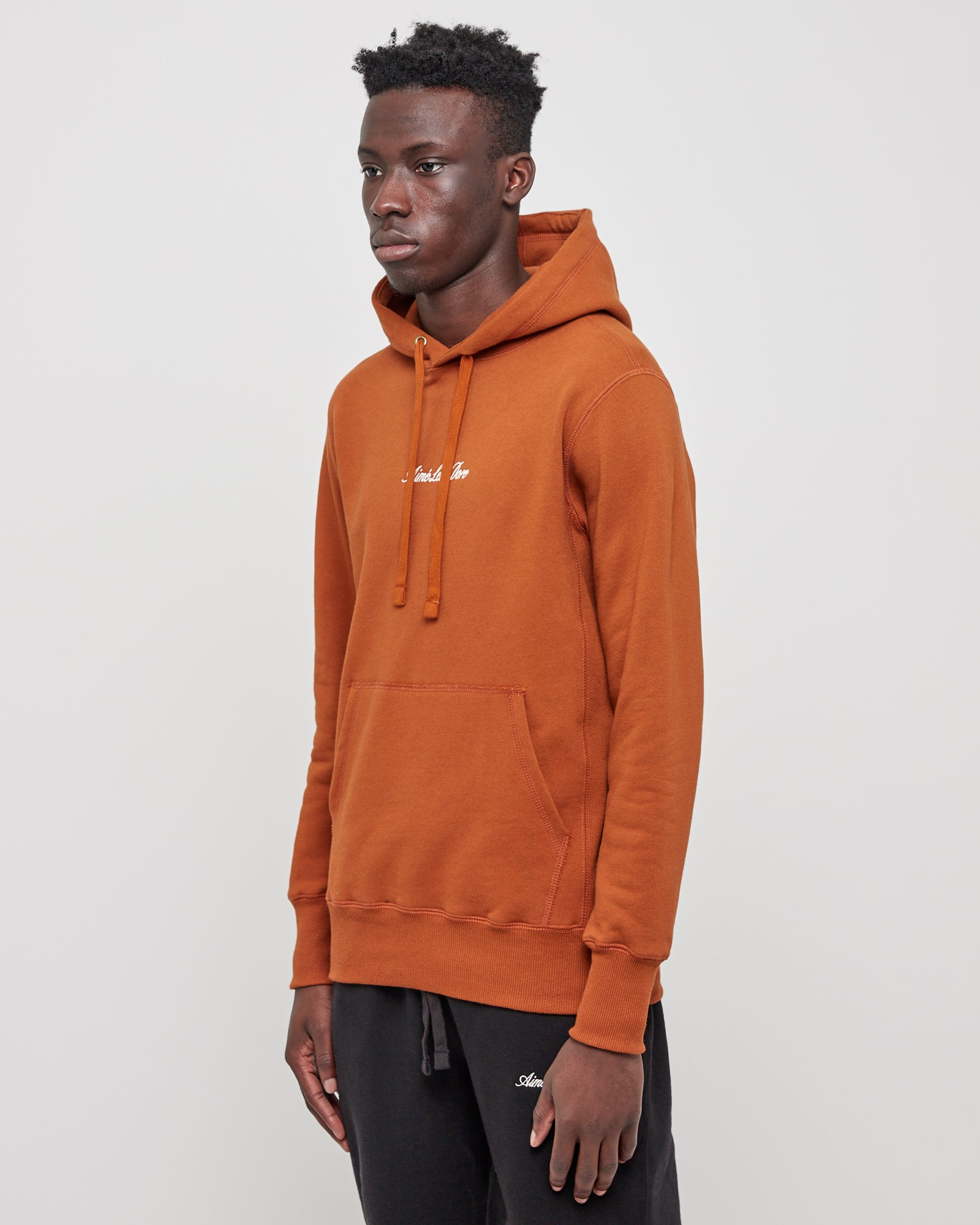 20oz Terry Logo Hoodie in Almond