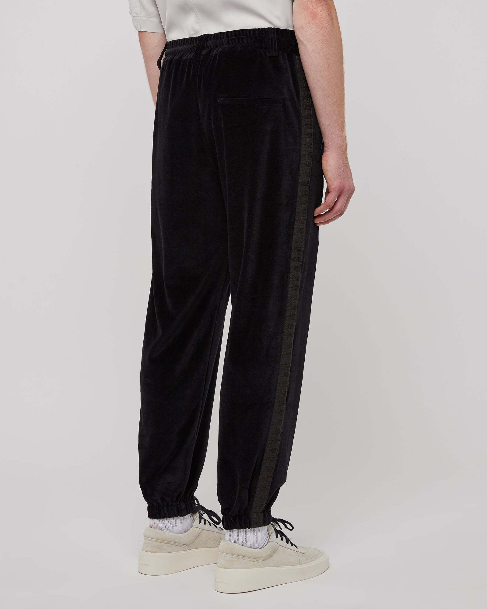 Elasticated Track Pant in Black