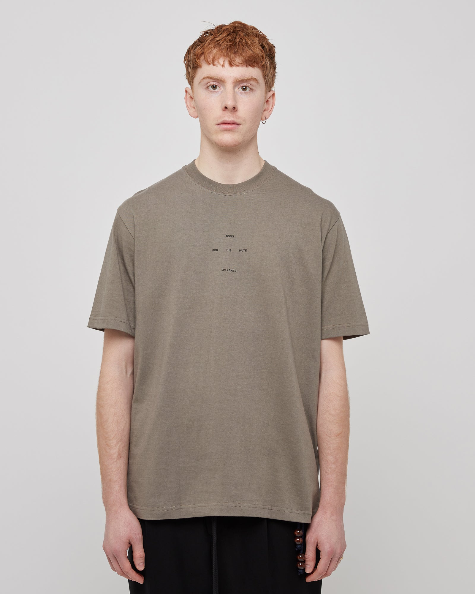 Oversized Logo T-Shirt in Cord