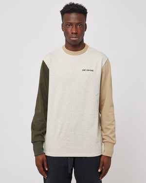 L/S Uniform T-Shirt in Oatmeal Combo