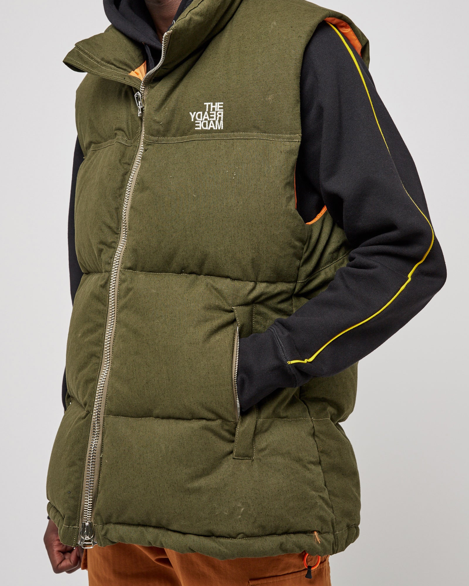 Down Vest in Green