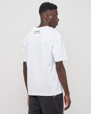 oK Moon Logo SS T-Shirt in White